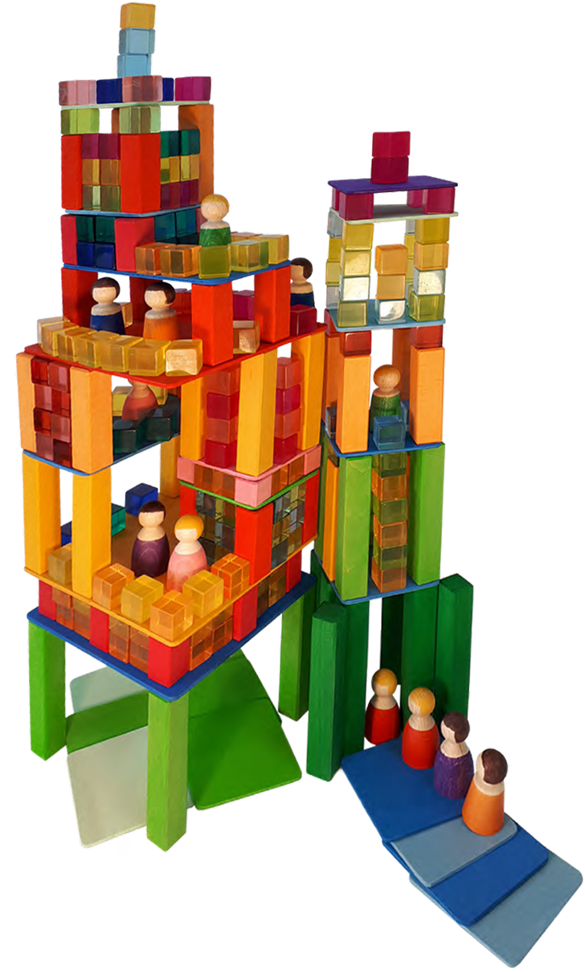 Our wooden toys are made of European timber - for playing or educational purposes.